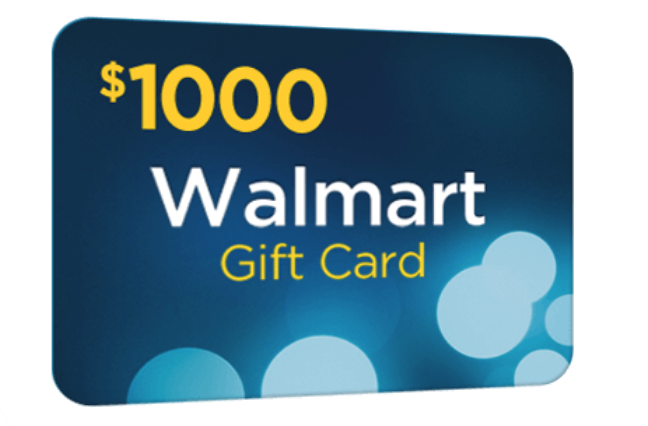 1000$ Walmart Card